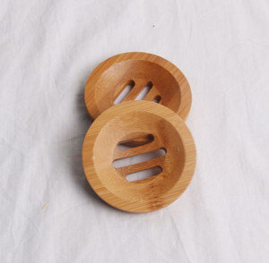 New Round Mini Soap Dish Creative Environmental Protection Natural Bamboo Soap Holder Drying Soap Rack Holder