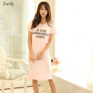 2020 Summer T Shirt Women Korean Polyester Long Top Tees Cotton T Shirts Casual Dress Female Short Sleeve Plus Size 5Xl 6Xl