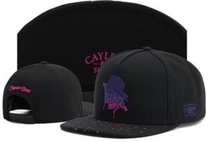 Новые поступления черный и фиолетовый Cayler Sons Шапки Шляпы Snapbacks Куш Snapback дешево скидки Caps Бесплатная доставка Hip Hop Подогнанную Cap Мода
