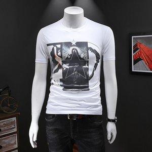 2020 New Summer Men Tshirt O-neck Print Short Sleeve Embroidery Slim Fit T-shirt Mens Designer Casual Mens T-Shirts Tops Plus Size M-4xl