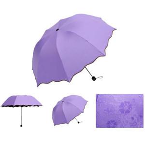 Волшебный Цветочный Купол Ультрафиолетовый доказательство Солнцезащитный Дождь Складные Зонты от дождя женщины Модный Женский Зонтик Ветрозащитный Солнцезащитный Крем Цветной зонт