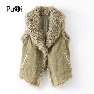 women's winter genuine leather vest leisure lady female real sheep fur coat jacket overcoat Cloth B401709