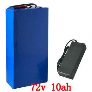 Batteria da 72 V batteria da 72 V 10AH per bicicletta elettrica Batteria da 72 V 10ah al litio con caricabatterie 30A BMS e 84v 2a per motore da 1000 W 1500 W
