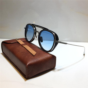 ДЖЕЙМС TART 398 Солнцезащитные очки Тарелка для круглых Мода Стиль Lens Metal авангардистские Trend Combination папайя UV400 Дизайнер Sunglasse Bemk
