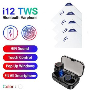 i12 TWS Bluetooth 5.0 auscultadores do esporte SweatProof BT5.0 auriculares para iPhone In-Ear sem fio fone de ouvido HiFi Sound Factory Atacado A3 chips