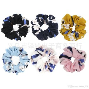 6 Color Women Girls Rhododendron Floral Elastic Ring Hair Ties Accessories Ponytail Holder Hairbands Rubber Band Scrunchies New Arrival