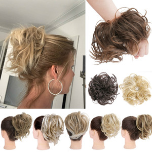 Moda Curly Messy Hair Ring Scrunchie Titular De Cabelo Headbands Headwear Hairbands Acessórios De Cabelo Estilo Ferramenta 14 Cores