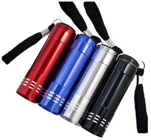 9 LED-UV-Licht Taschenlampe Cree lila LED-Leuchten am besten Mini-Batterie Taschenlampen Ultra Violet Jagd Angeln Außenleuchte Fackelbrenner