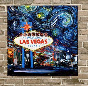 Starry Night cultura pop Home Decor Artesanato / HD impressão pintura a óleo sobre tela Wall Art Canvas Pictures 200517