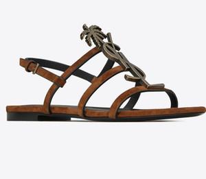 2020 zapatos a estrenar atractivas de la mujer de verano de la hebilla de la correa de bambú zapatas de unión sandalias planas del dedo del pie en punta forman los zapatos En Stock