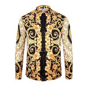 M- 2XL nuovissimo marchio Medusa Men Shirt 2019 Maniche lunghe Slim Fit Camicie Rock Guitar Camicie da uomo Business Camicia da uomo casual