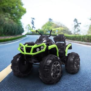 Leadzm yükseltilmiş LZ-906 ATV çift sürücü çocuk araba ile 45W12 12V7AH1 pil Uzaktan Kumanda olmadan siyah ve yeşil