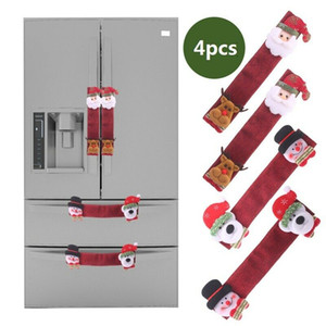 4 pezzi decorativi maniglia frigorifero accessori copertura adesivo magico Natale facile da installare la cucina di casa porta di protezione