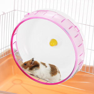 Small Animal Pet Toy Hamster Mice Gerbil Rat Exercise Rolling Wheel Silent Spinner Run Disc Toys