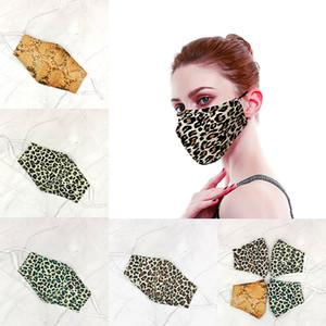 Sıcak satan Kişilik maskeler toz geçirmez Patlamaya dayanıklı Pamuk Leopar Maskeler nefes Filtre Maskesi Ücretsiz shippng By DHL takılabilir