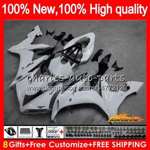Cuerpo para YAMAHA YZF R1 YZF1000 1000 cc blanco brillante YZF1000 1000CC 63HC.8 YZF R1 04-06 YZFR1 YZFR1 04 05 06 2004 2005 2006 carenado kit