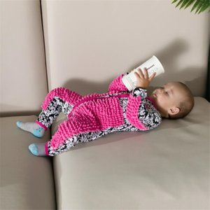 Maglia bambino Mop Piedini vestiti Lala manica lunga striscianti Abbigliamento tuta di un pezzo del vestito infantile del cotone di pulizia Mop Suit Y200320