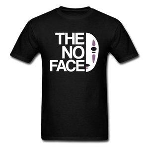 Hiçbir Yüz T Gömlek Maske T-shirt Erkekler Ruhların Kaçışı Tops Anime Tees Faceless Tshirt Yaz Siyah Giyim Hip Hop Streetwear