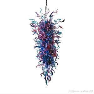 Blown envío el 100% a mano Colores de cristal de Murano Art caramelo Araña hogar moderno grande iluminación de la lámpara