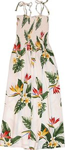 RJC Womens Bird of Paradise Display Elastic Tube Top Sundress