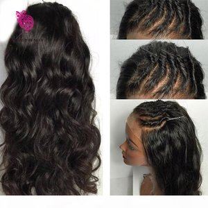 8A superiore di seta piena del merletto parrucche capelli brasiliani del Virgin dell'onda del corpo di Glueless superiore di seta merletto della parte anteriore parrucche 100% dei capelli della seta parrucca base umana
