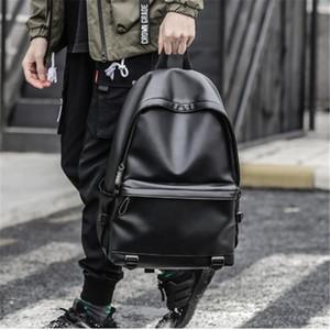 Горячая продажа Многофункциональный мужчин Рюкзак водонепроницаемый PU кожаный мешок перемещения Человек Многие Департаменты Мужской ноутбук сумка подросток рюкзаки
