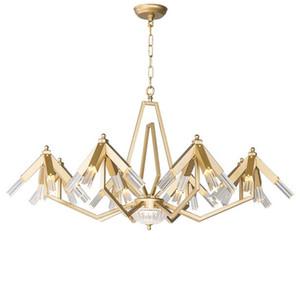 Nuovo Post Modern lampadario luce Lampade a sospensione americani di lusso Soggiorno Camera da letto Lustri Art Cafe Restaurant Isola Hanging Lighting MYY
