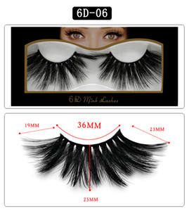 Thick Natural long 6D mink false eyelashes makeup mink 3D hair fake lashes soft & vivid 10 styles DHL Free