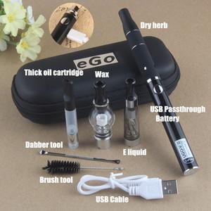 정통 UGO 4 in 1 Vape Kit UGO-V II 510 스레드 배터리, 유리 글로브 왁스 원자로 CE3 O Pen Vapor eGo CE4 AGO 허벌 기화기 키트