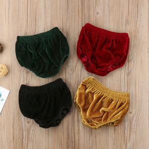 Bebê recém-nascido de veludo Bottoms infantil Meninas bonitos Meninos suave PP Bloomer Shorts Outono Criança Diaper incluir Calcinhas PP Pant