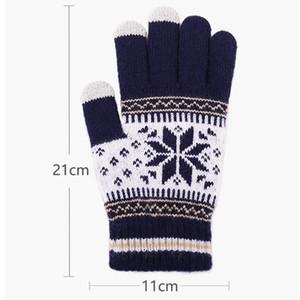 Moda Noel kar tanesi Eldiven Kadın Kış Dokunmatik Ekran Eldiven Kış Sıcak Noel Örgü Mitten Parti Hediye TTA2118-2