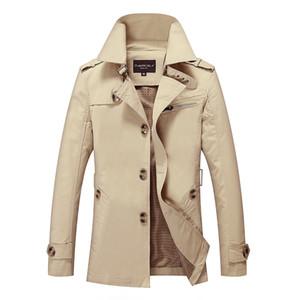 La nueva capa de Mens Trench hombre de la manera medio-largo del otoño del resorte del estilo británico chaqueta delgada cazadora Hombre más el tamaño M-5XL
