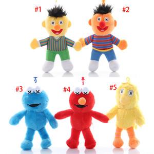 Em estoque 5,9 polegadas 15 centímetros 5 cores Sesame Street Elmo Stuffed Plush Dolls Brinquedos Keychain keyring Nenhuma marca C135