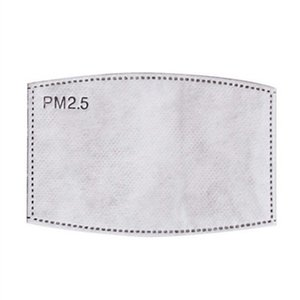 5 Camada Máscara Protetora PM2.5 descartável Pad Rosto Máscaras Replacement Pad Inner junta de substituição do filtro Pad Respirador