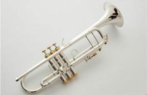Plata Bach TR-190GS trompeta auténtica doble plateado bemol profesionales trompeta instrumentos musicales superiores de latón con el caso