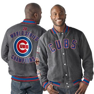 Chicago Cubs MENS World Series 2016 Sweat-shirt Champions Cardigan manteau Hauts Outwear