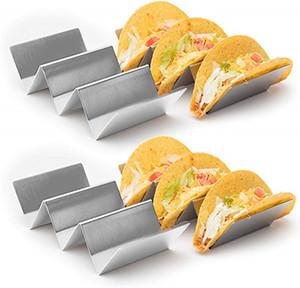 Taco Halter Ständer Edelstahl Taco Truck Tray Art Mexican Food Taco Rack-Shells, Safe für Backen, Geschirrspüler und Grill Tresor