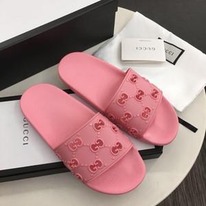 Женщины лето сандалии роскошных квартир шлепанцы женщин вскользь Flats кожаные ботинки Пляж Roman Sandales ДАМ с коробкой