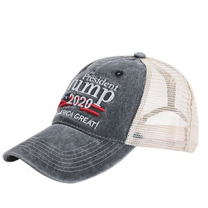 Trump Hat Keep America Great Letter Embroidered Washed Cloth Ball Cap Outdoor Travel Trump 2020 President Baseball Caps Party Hats OOA8025