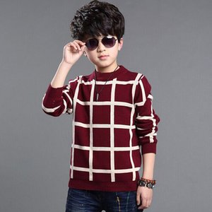 Childrenswear a Generation of Fat Boys' Sweater Big Kid Crew Neck Pullover Long-sleeve Knitwear Korean-style Manufacturers Direc