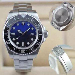 Luxo D-Dial Azul Men Watch R-Dweller rotativa Cerâmica Bezel 44MM Sapphire 116660 BLSO automáticas Diver Mens Relógios de pulso