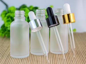 Golden Silver Black Cap Großhandel 30ml Ätherisches Öl-Flaschen für Dropper 1OZ Glasbehälters Hot Selling Frosted