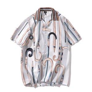 20SS на складе Vintage Style Барокко рубашка 2020 Летняя отложной воротник повседневные мужские рубашки Street Одежда