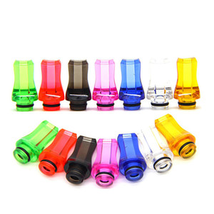 510 Drip Tips Flat Helical Mouthpieces Suck Tip 6 Colors for Ego Aio TFV12 Prince Baby and TFV8 Baby Melo