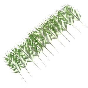 12st Artificial Palmblätter 50cm Grün Kunststoff Faux Fern Cycas Hochzeit Zubehör Home Garten Dekoration