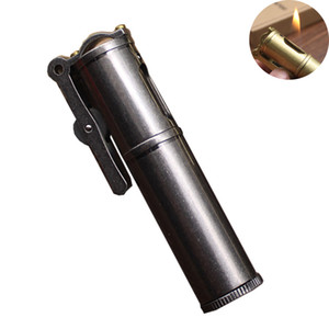 Retro Metal Lighter Windproof Refillable Kerosene Lighter Cigarette Flame Lighter Gift For Men