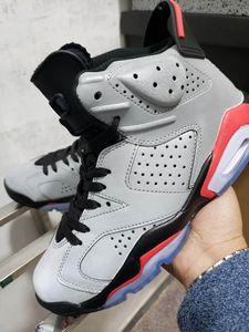 Nuovo arrivo 6 JSP 3M 3m Mens a infrarossi riflettenti Athletic Sports Shoes Silver Black Buona Qualità 6s Uomini Sneakers Allenatore con scatola