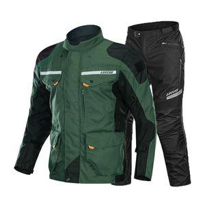 Giacca da moto estate Moto Suit Moto Giacca da equitazione Moto Motocross Traspirante impermeabile Protezione da uomo Tracksuiti da uomo S-4XL