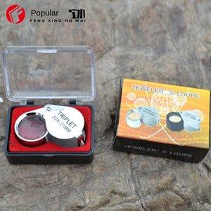 R6PWU 30x de metal profissional Jade identificação high-portáteis 30x jóias lupa de metal glas de ampliação profissional Jóias