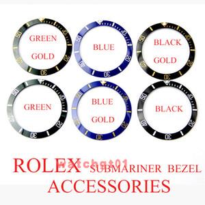 taille 38mm accessoires de montres de luxe de lunette en céramique pour fixer ROLEX Submariner maître 116610 watchmark réparation partie montres Lv LN homme Montres-bracelets